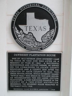 Dewberry Plantation House Marker image. Click for full size.