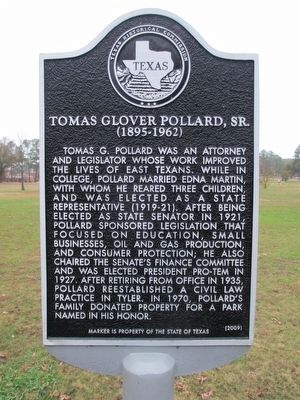Thomas Glover Pollard, Sr. Marker image. Click for full size.