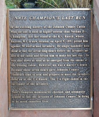 Nate Champion's Last Run Marker image. Click for full size.