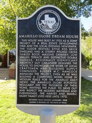 Amarillo Globe Dream House Marker image. Click for full size.
