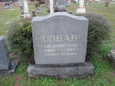 Richard Bennett Hubbard Tombstone image. Click for full size.