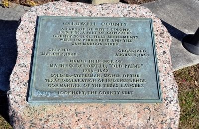 Inscription Plate of Caldwell County Marker image. Click for full size.