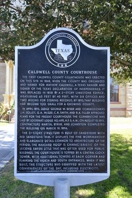 Caldwell County Courthouse Marker image. Click for full size.