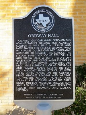 Ordway Hall Marker image. Click for full size.