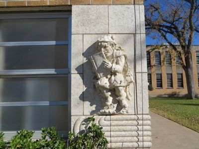 Gnome on corner of Ordway Hall image. Click for full size.
