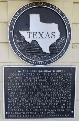 H. W. and Katie Galbraith House Marker image. Click for full size.