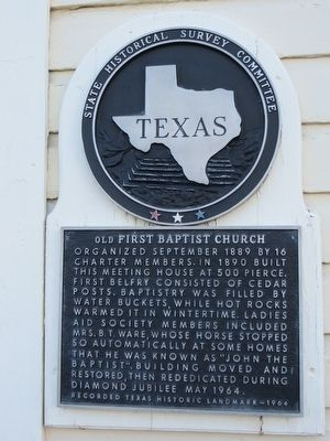 Old First Baptist Church Marker image. Click for full size.