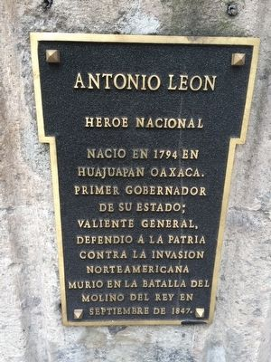 Antonio León Marker image. Click for full size.