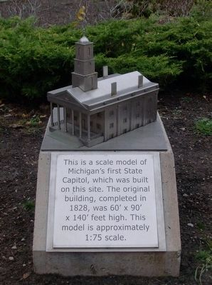 Model of Michigan's First Capitol image. Click for full size.