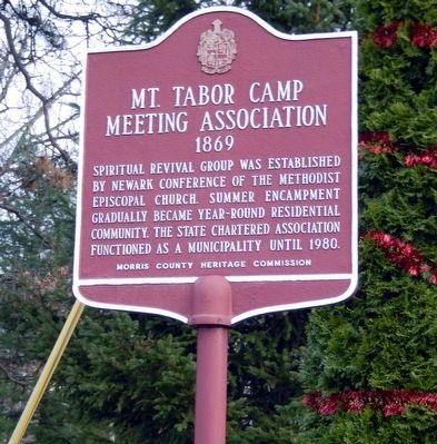 Mt. Tabor Camp Meeting Association Marker image. Click for full size.