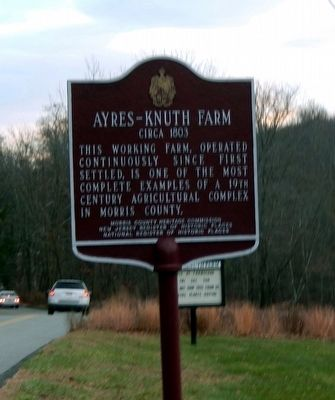 Ayres-Knuth Farm Marker image. Click for full size.