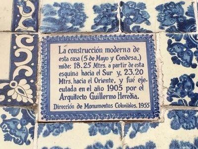 La Casa De Los Azulejos Historical Marker