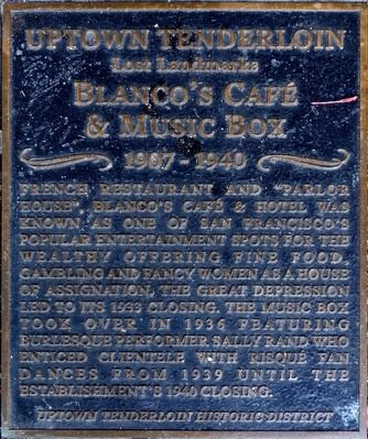 Blanco's Café & Music Box Marker image. Click for full size.