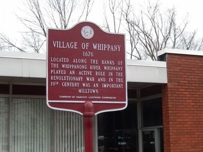 Village of Whippany Marker image. Click for full size.
