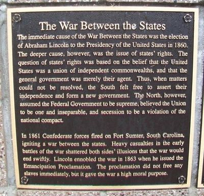 The War Between the States Marker image. Click for full size.