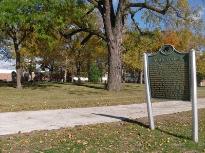 Alma College Marker image. Click for full size.