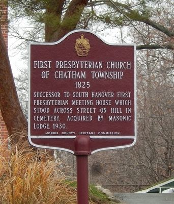 First Presbyterian Church of Chatham Township Marker image. Click for full size.