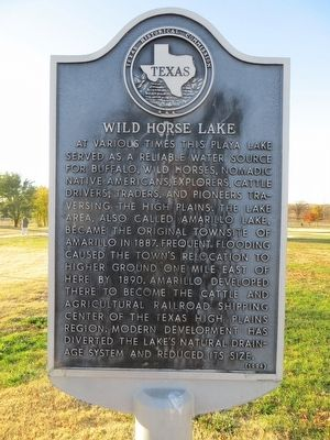 Wild Horse Lake Marker image. Click for full size.