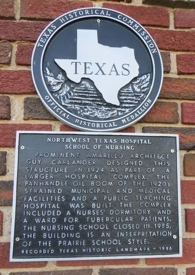 Northwest Texas Hospital School of Nursing Marker image. Click for full size.
