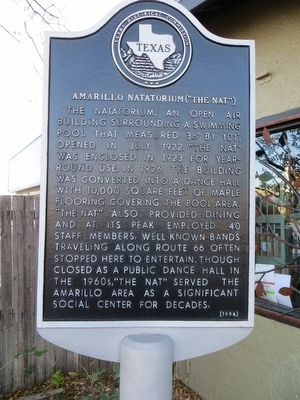 "Amarillo Natatorium (""The Nat"") Marker image. Click for full size."