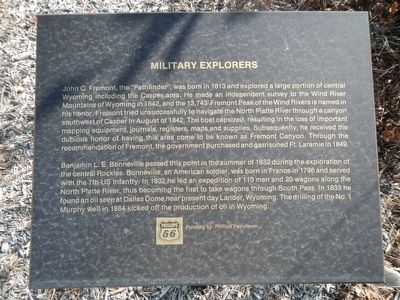 Military Explorers Marker image. Click for full size.