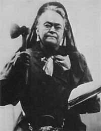 Carrie Nation in 1910 image. Click for full size.