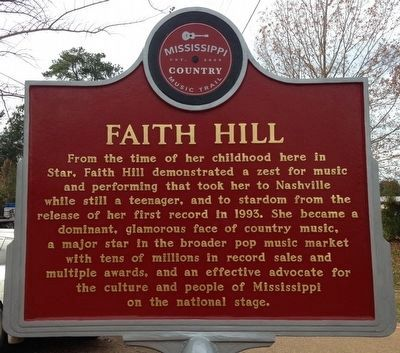 Faith Hill Marker (side 1) image. Click for full size.