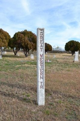 Western Cattle Trail Marker image. Click for full size.