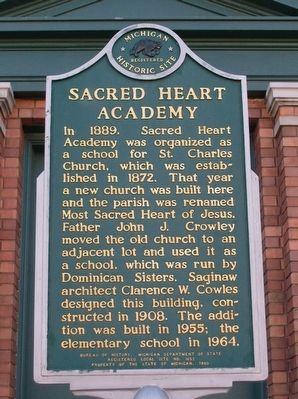 Sacred Heart Academy Marker image. Click for full size.