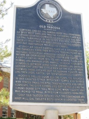 Site of Old Tascosa Marker image. Click for full size.