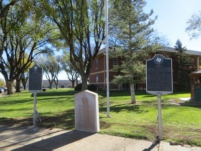 Site of Old Tascosa Marker <i>on the right</i> image. Click for full size.