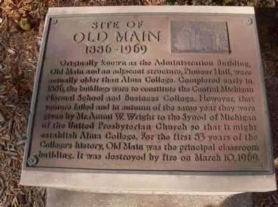 Site of Old Main Marker image. Click for full size.