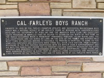 Cal Farley's Boys Ranch Marker image. Click for full size.