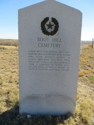 Boot Hill Cemetery Marker image. Click for full size.