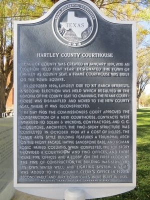 Hartley County Courthouse Marker image. Click for full size.