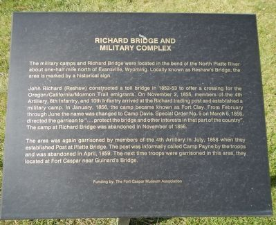 Richard Bridge and Military Complex Marker image. Click for full size.