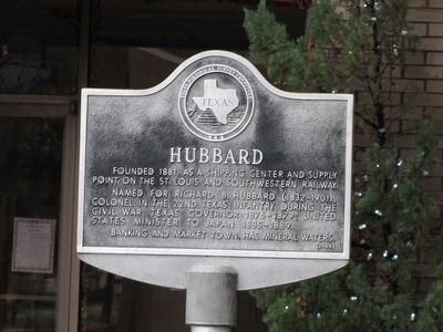 Hubbard Texas Historical Marker image. Click for full size.