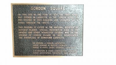 Gordon Square Marker image. Click for full size.