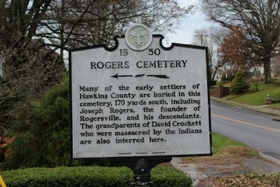 Rogers Cemetery Marker image. Click for full size.