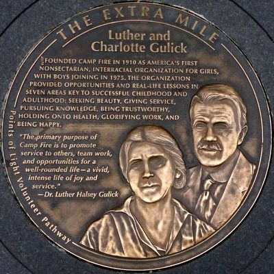Luther and Charlotte Gulick Marker image. Click for full size.