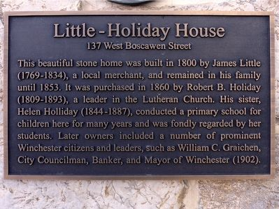 Little-Holiday House Marker image. Click for full size.