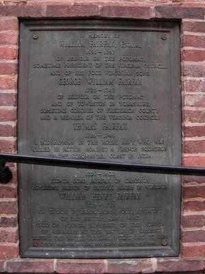 Fairfax Plaque<br>at Christ Episcopal Church image. Click for full size.