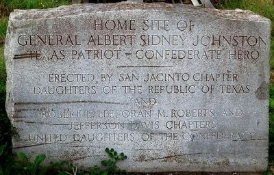Granite Marker by Organizations Honoring General Johnston image. Click for full size.