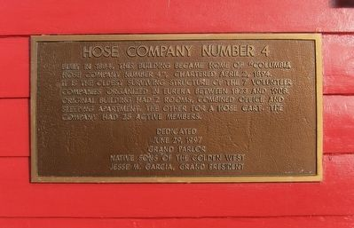 Hose Company Number 4 Marker image. Click for full size.