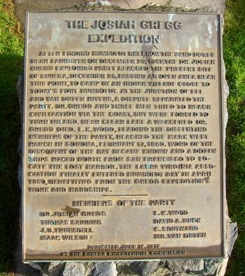 The Josiah Gregg Expedition Marker image. Click for full size.