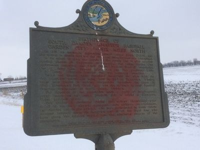 Birthplace of South Dakota Amateur Baseball Marker image. Click for full size.