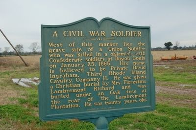 A Civil War Soldier Marker image. Click for full size.