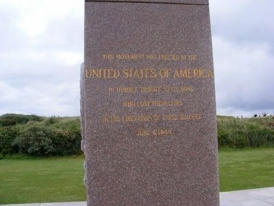 Utah Beach Memorial to all who lost their lives on June 6, 1944 image. Click for full size.