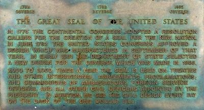 The Great Seal of the United States Marker image. Click for full size.