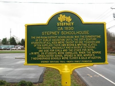 Stepney Schoolhouse Marker image. Click for full size.